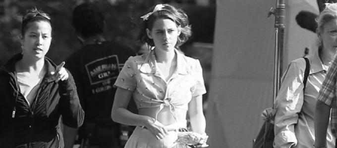 CANDIDS: Kristen gravando novo projeto de Woody Allen