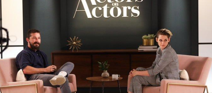 Kristen Stewart e Shia LaBeouf conversam no Actors on Actors da Variety